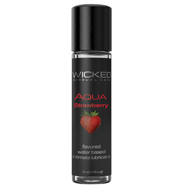 Wicked Sensual Care Aqua Water Based Lubricant - 1 oz Strawberry