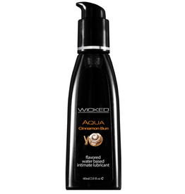 Wicked Sensual Care Aqua Water Based Lubricant - 2 oz Cinnamon Bun