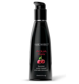 Wicked Sensual Care Aqua Water Based Lubricant - 4 oz Cherry