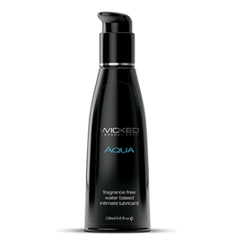 Wicked Sensual Care Aqua Water Based Lubricant - 4 oz Fragrance Free