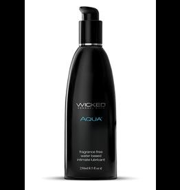 Wicked Sensual Care Aqua Water Based Lubricant - 8.5 oz Fragrance Free
