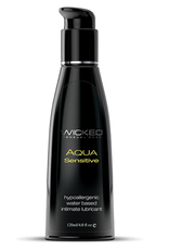 Wicked Sensual Care Hypoallergenic Aqua Sensitive Water Based Lubricant - 4 oz Unscented