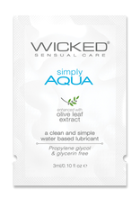 Wicked Sensual Care Simply Aqua Water Based Lubricant - .1 oz