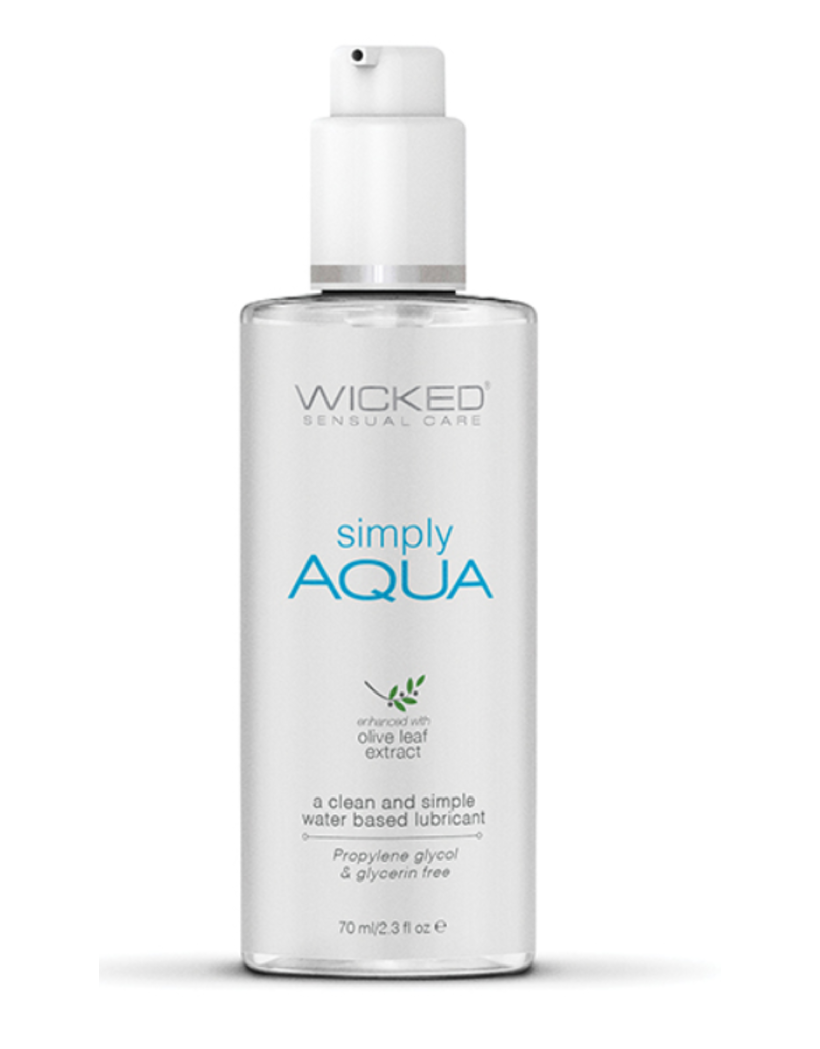 Wicked Sensual Care Simply Aqua Water Based Lubricant - 2.3 oz