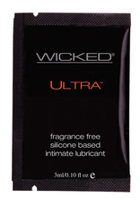 Wicked Sensual Care Ultra Silicone Based Lubricant - .1 oz Fragrance Free