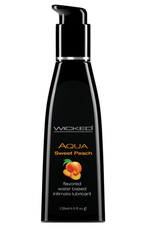 Wicked Sensual Care Water Based Lubricant - 4 oz Sweet Peach