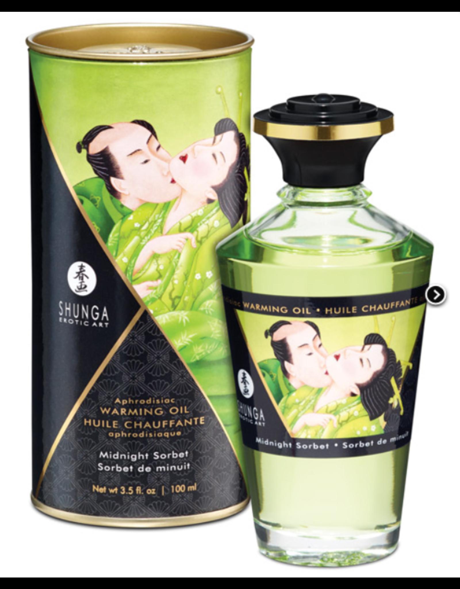 Shunga Organica Warming Oil 3.5oz Green Tea