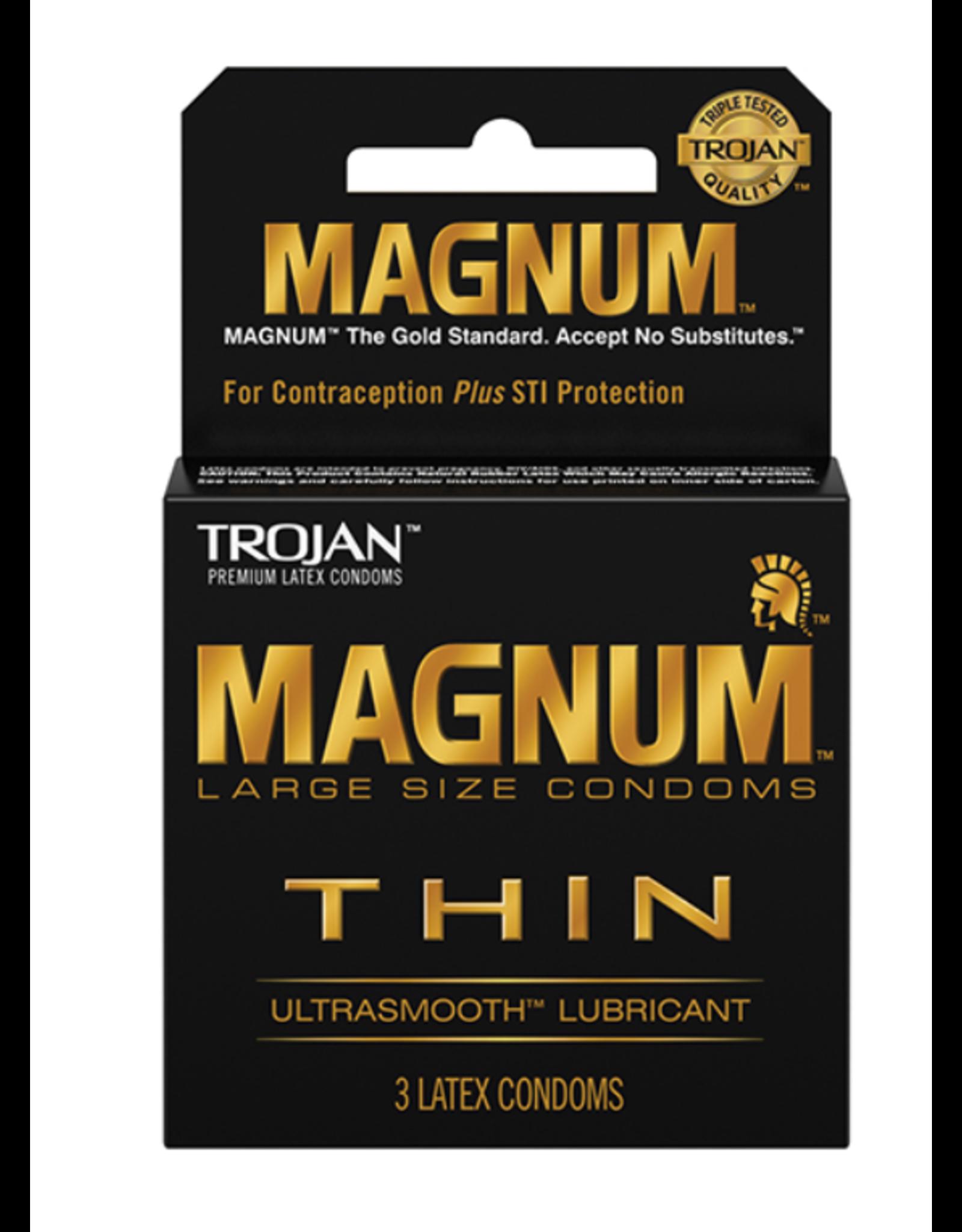 Trojan Magnum Large Thin 3pk