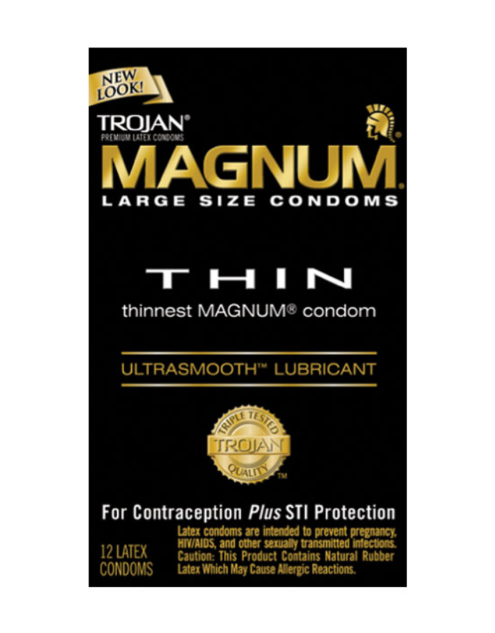 Trojan Magnum Large Thin with Ultrasmooth Lubricant 12pk