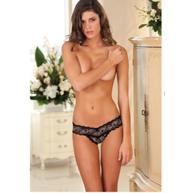 Crotchless Lace V-Thong