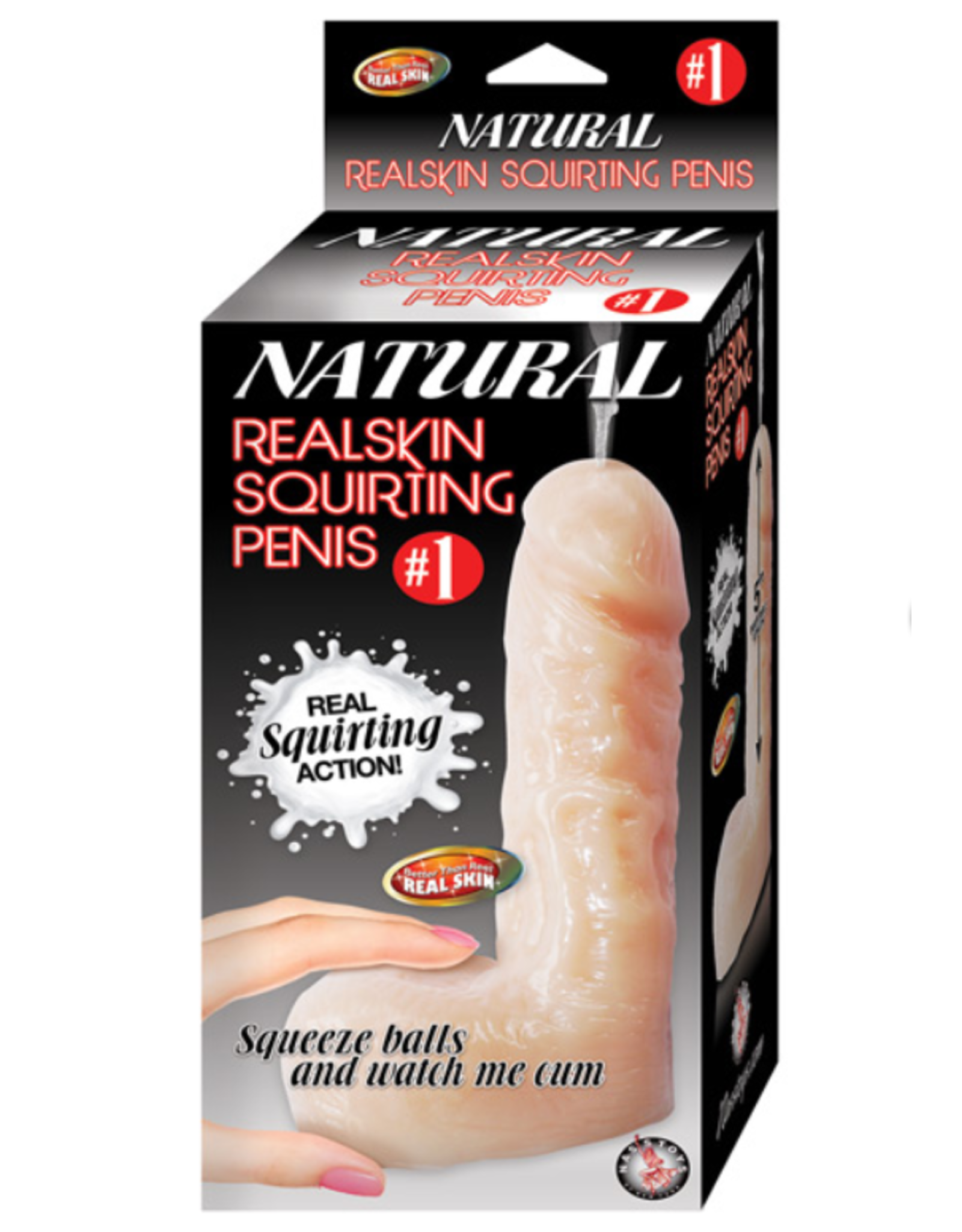 Natural Realskin Squirting Penis Brown