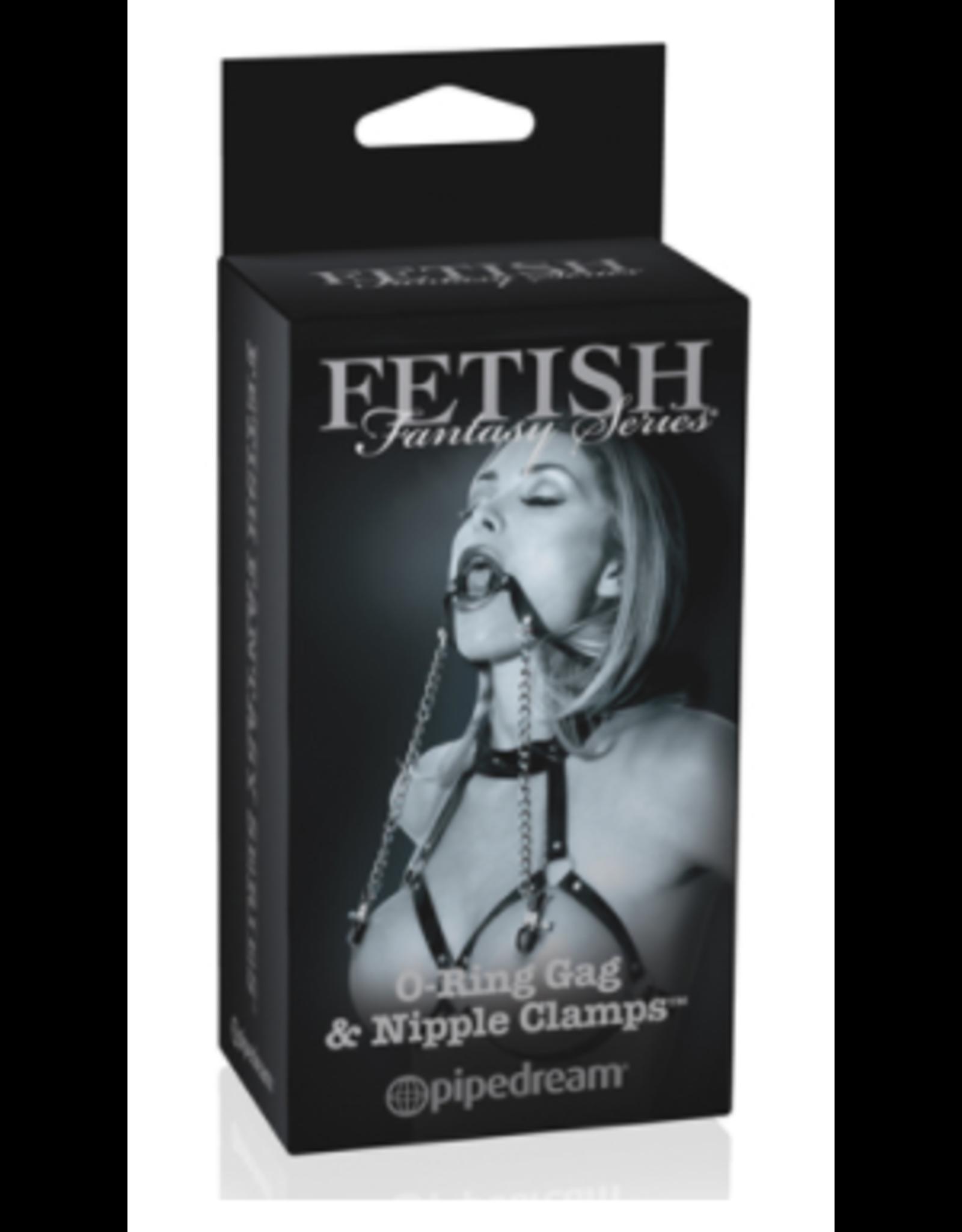 Fetish Fantasy Ltd. Ed. O-Ring Gag & Nipple Clamps