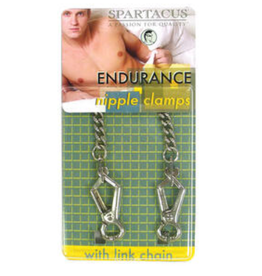 Spartacus Endurance Nipple Clamps with Curbed Chain