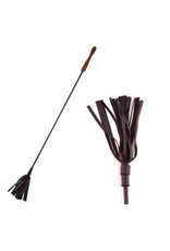 Rogue Riding Crop with Rounded Wooden Handle