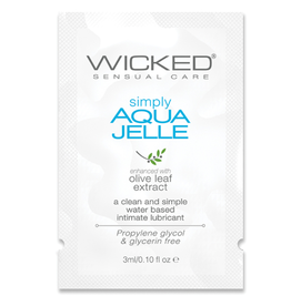 Wicked Sensual Care Simply Aqua Jelle Water Based Lubricant - .1 oz