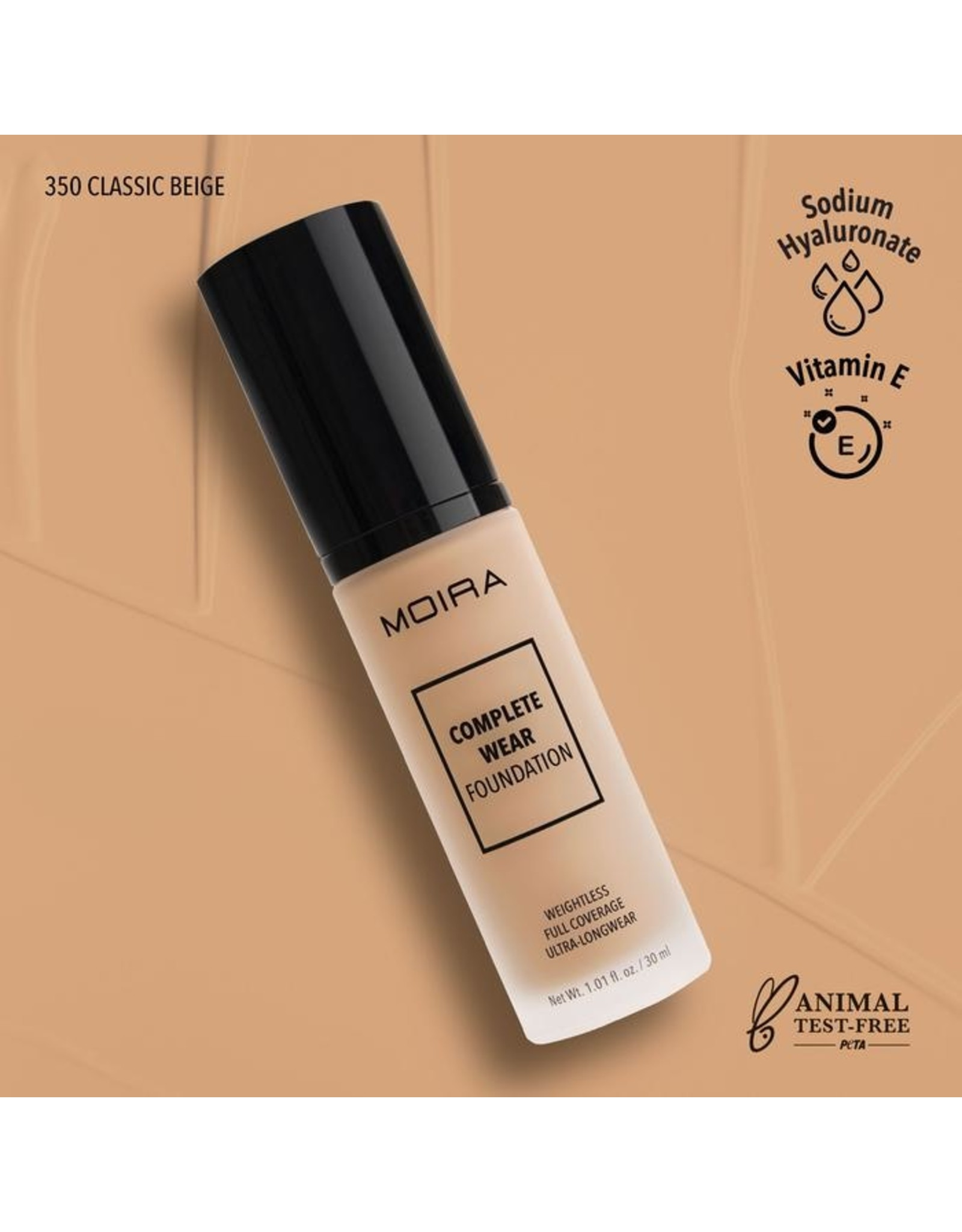 Moira Complete Wear Foundation 350 Classic Beige