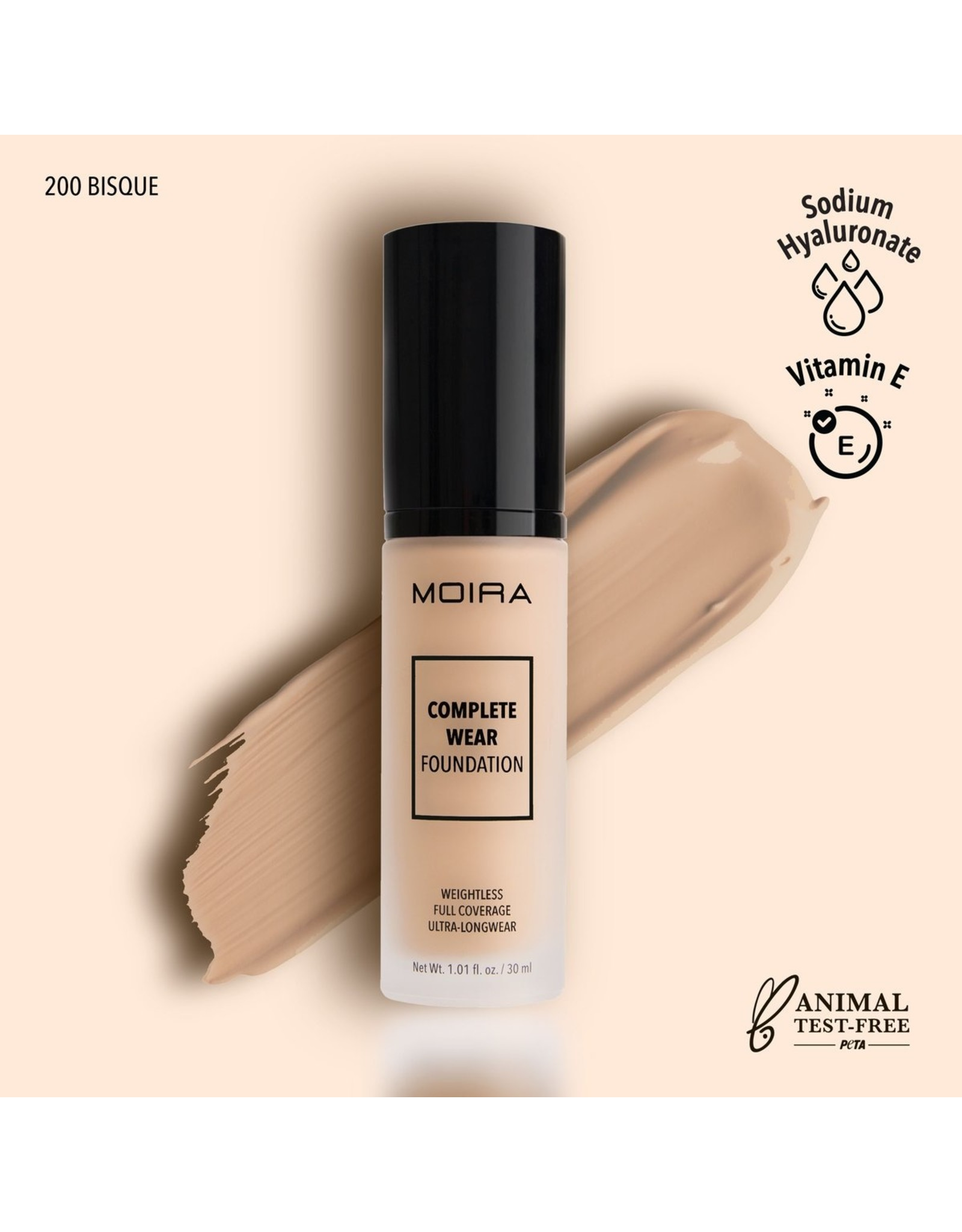 Moira Complete Wear Foundation 200 Bisque