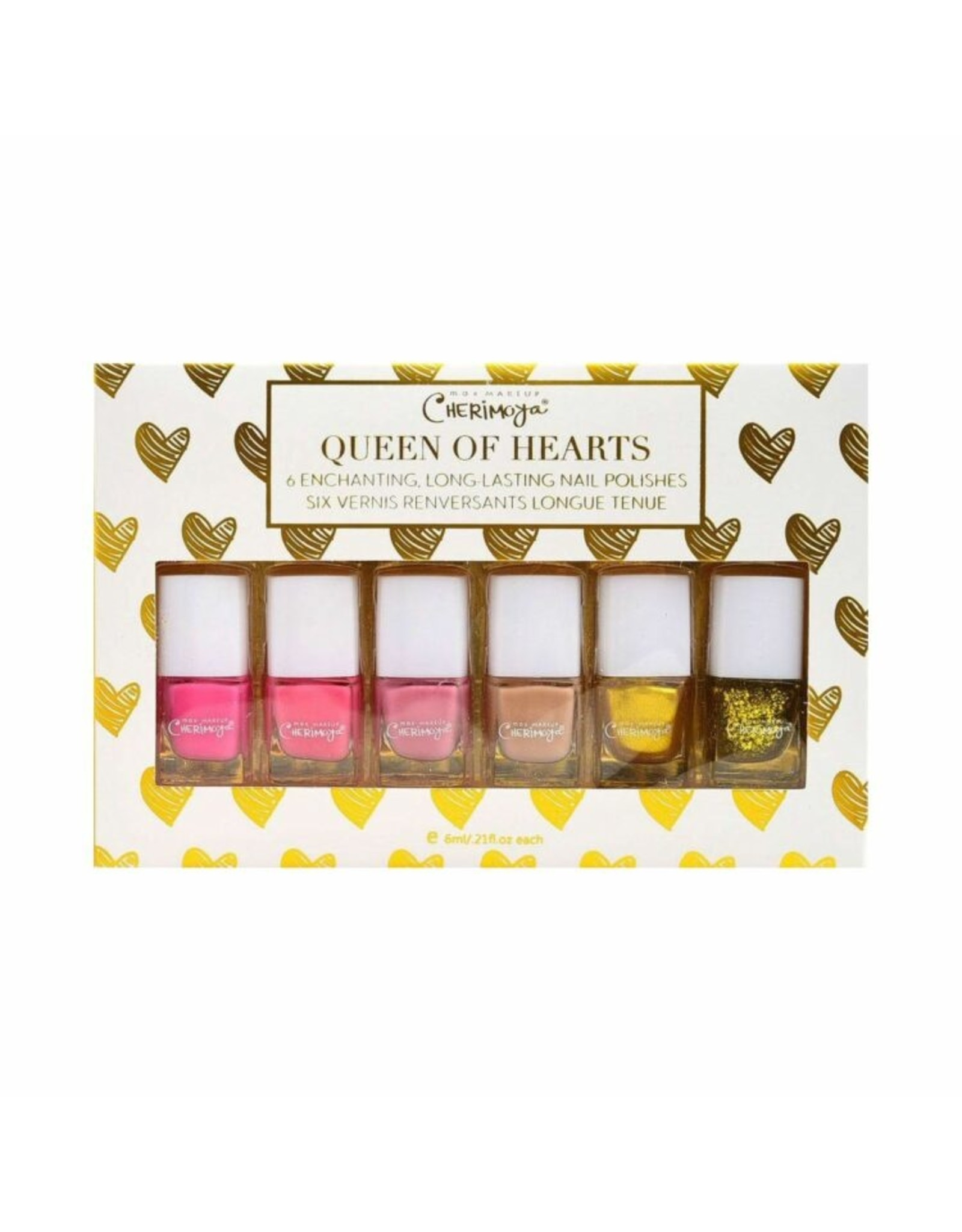 Queen of Hearts 6 PCS Nail Polish Set