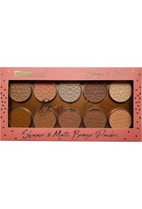 Beauty Treats 10 Colors Shimmer and Matte Bronzer powders