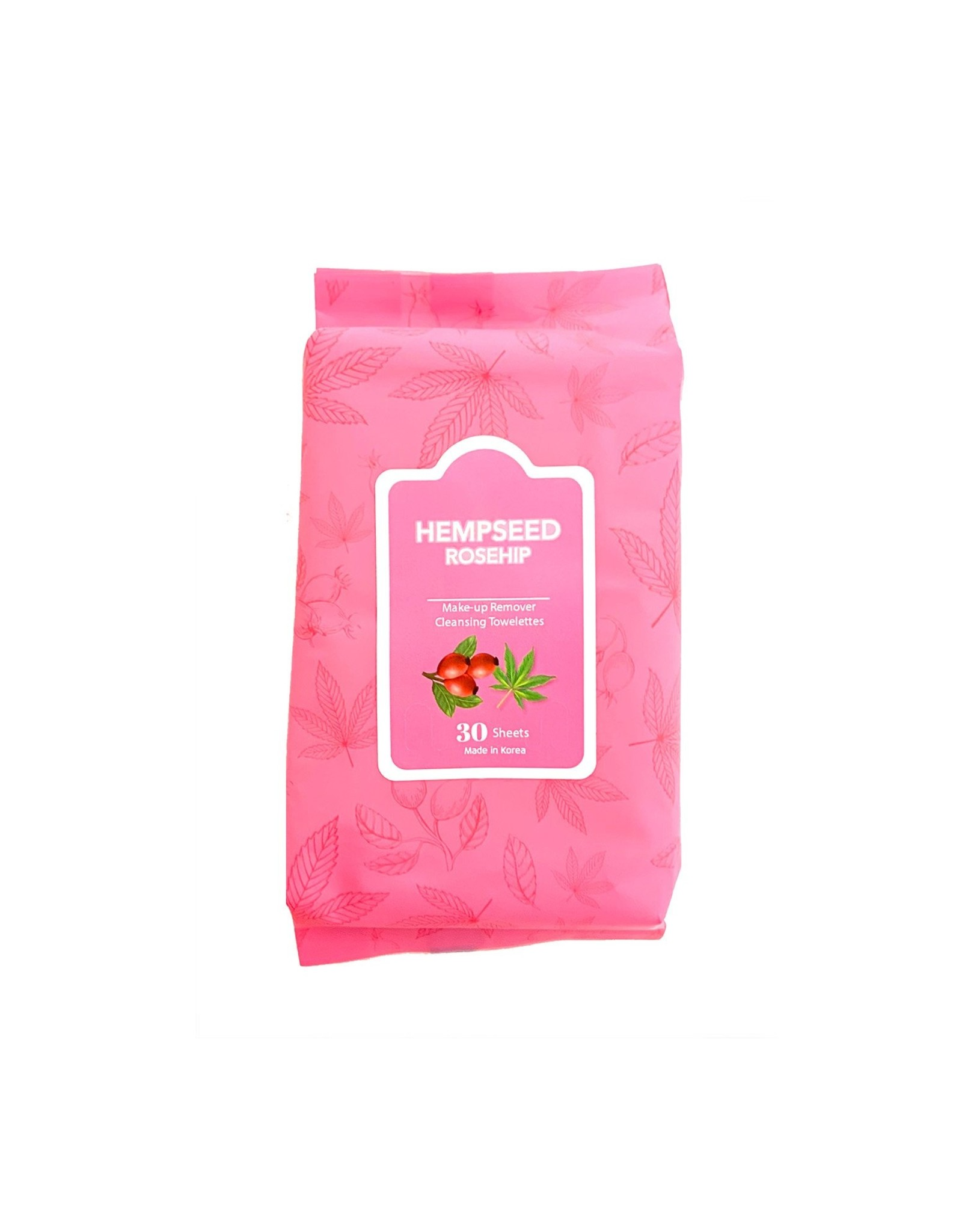 HEMPSEED ROSEHIP MAKE UP REMOVER OIL CLEANSING TOWELETTES 30 SHEETS