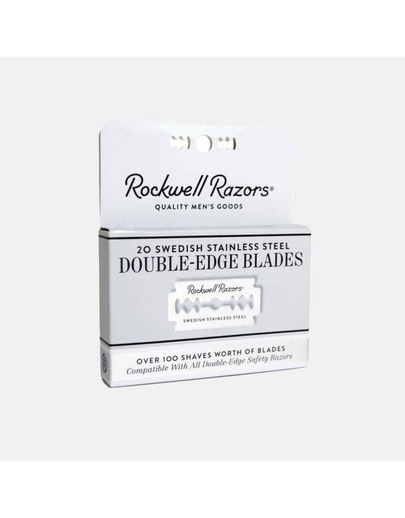 Rockwell Double Edge Razor Blades 20pk-Approximately 100 Shaves