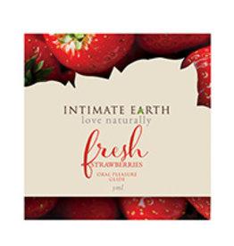Intimate Earth Lubricant Foil - 3 ml Fresh Strawberries