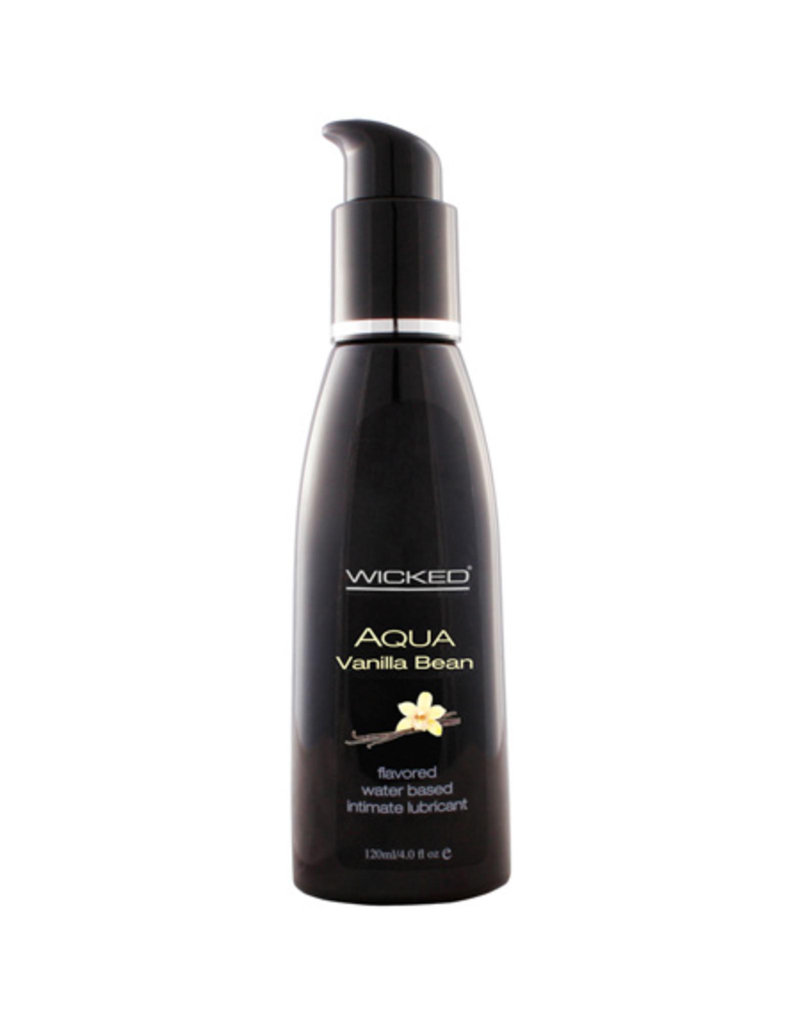 Wicked Sensual Care Aqua Water Based Lubricant - 4 oz Vanilla Bean