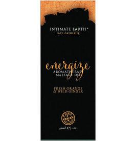 Intimate Earth Energize Massage Oil Foil - 30ml Orange & Wild Ginger