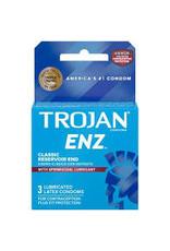 Trojan Enz Spermicidal Lubricated Condoms 3pk