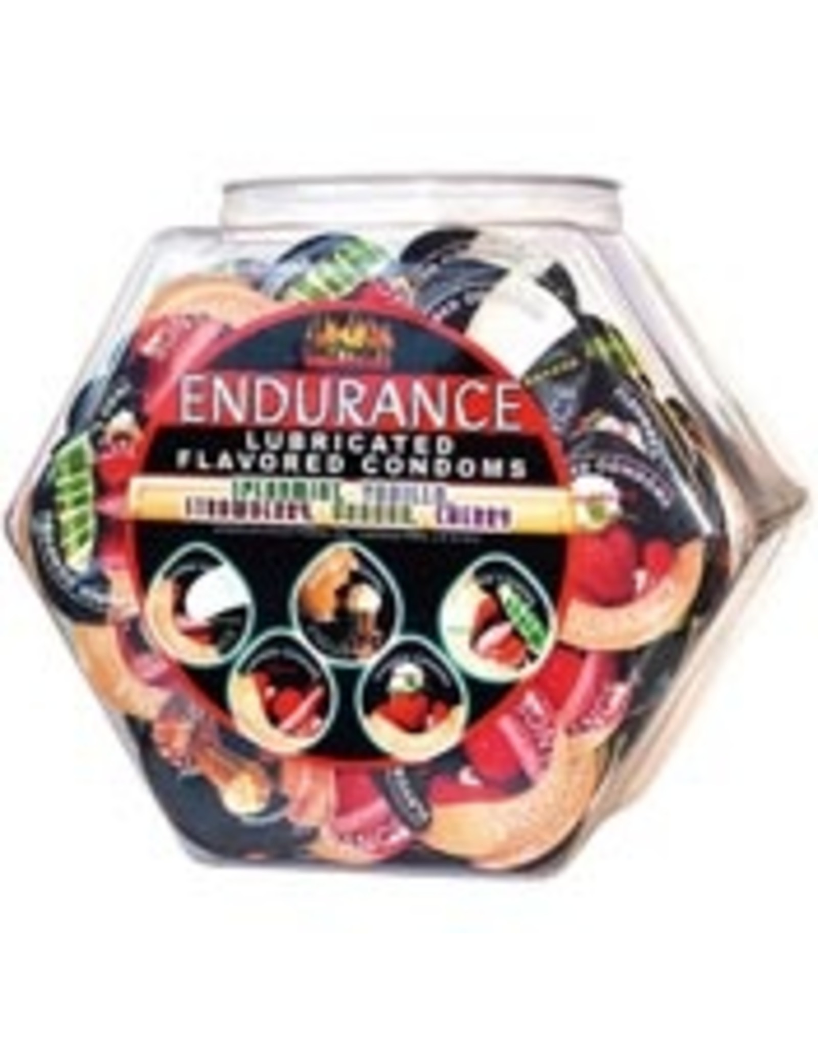 Endurance Lubricated Flavored Condoms From Display Bown