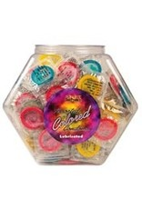 Assorted Colored Condoms From Display Bowl