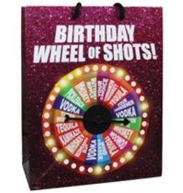 Birthday Wheel of Shots Spinner Gift Bag