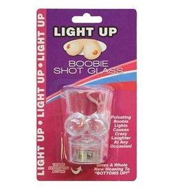 Light up Boobie Shot Glass with String