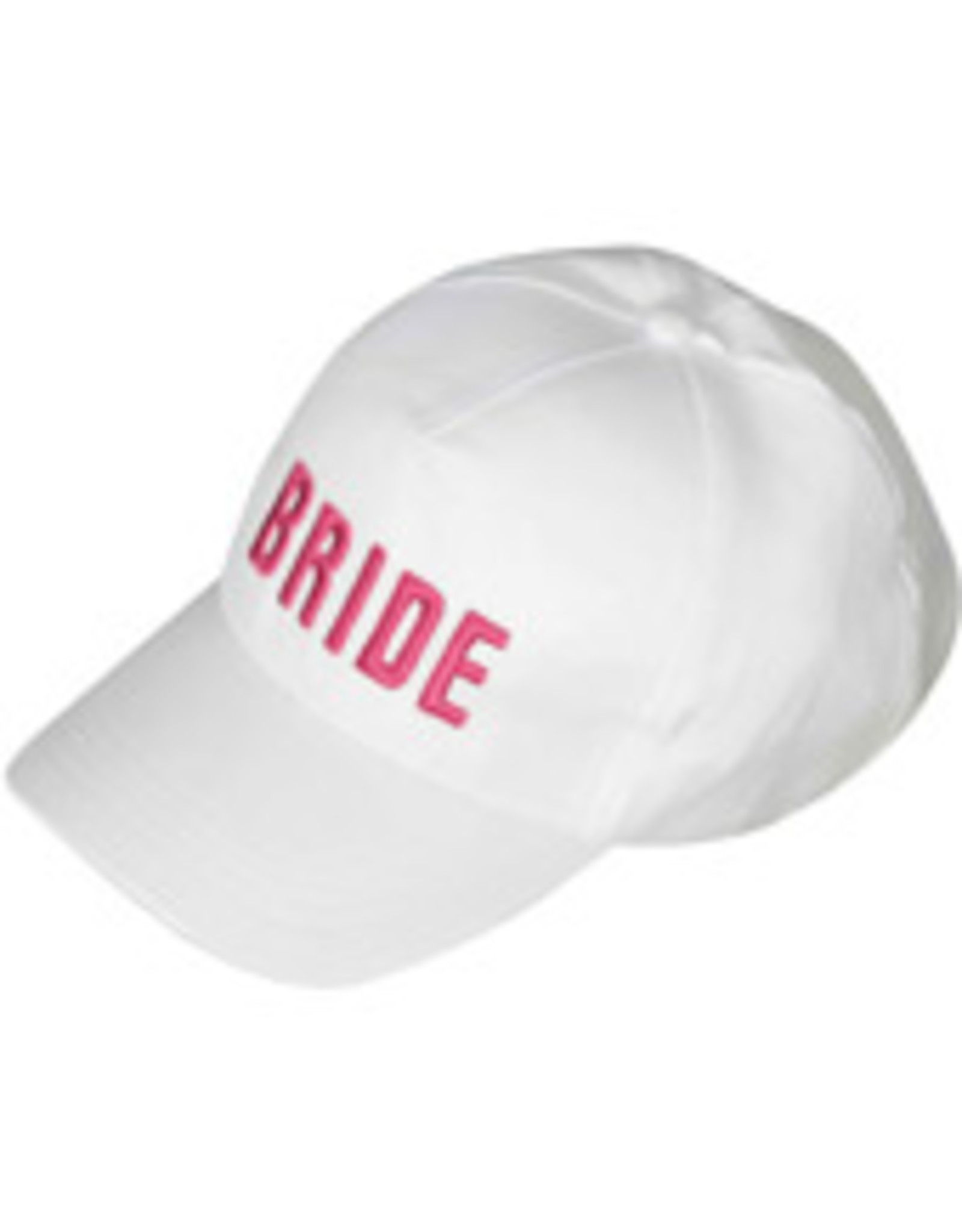 Bride Hat White with Pink