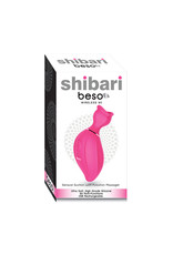 Shibari Beso Sensual Suction Massager 8 Function Silicon USB Rechargeable Splashproof Pink