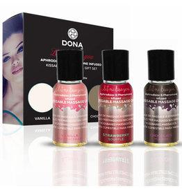 Dona Let Me Kiss You Massage Kit (Kissable) 3 X 1 fl oz