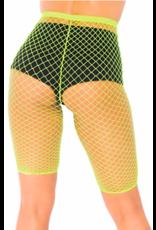 Leg Avenue Yellow Net Biker Shorts