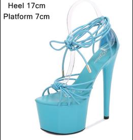 Blue Strappy Platforms