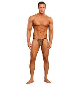 Male Power Posing Strap Thong Animal Print O/S