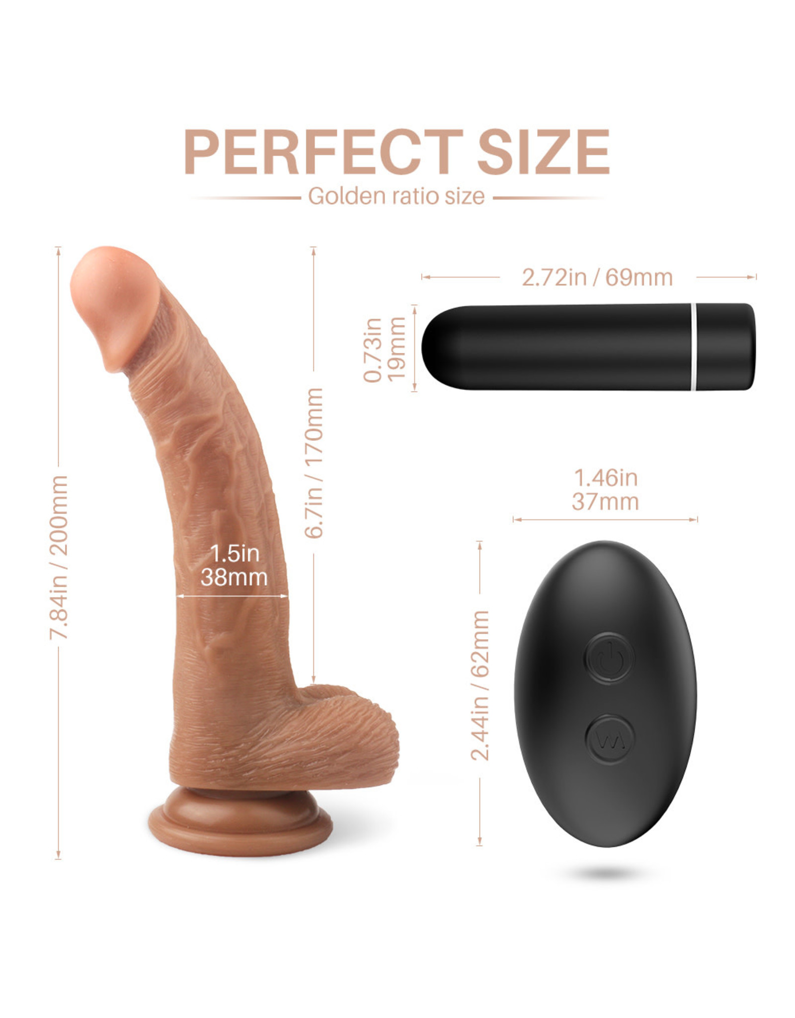 Babylon Babylon Willy Nilly Vibrating Cock w Suction and RC