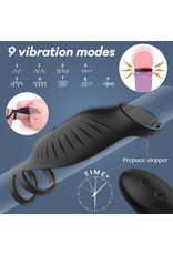 Babylon Vibrator /Penis Hybrid with Cockring and RC