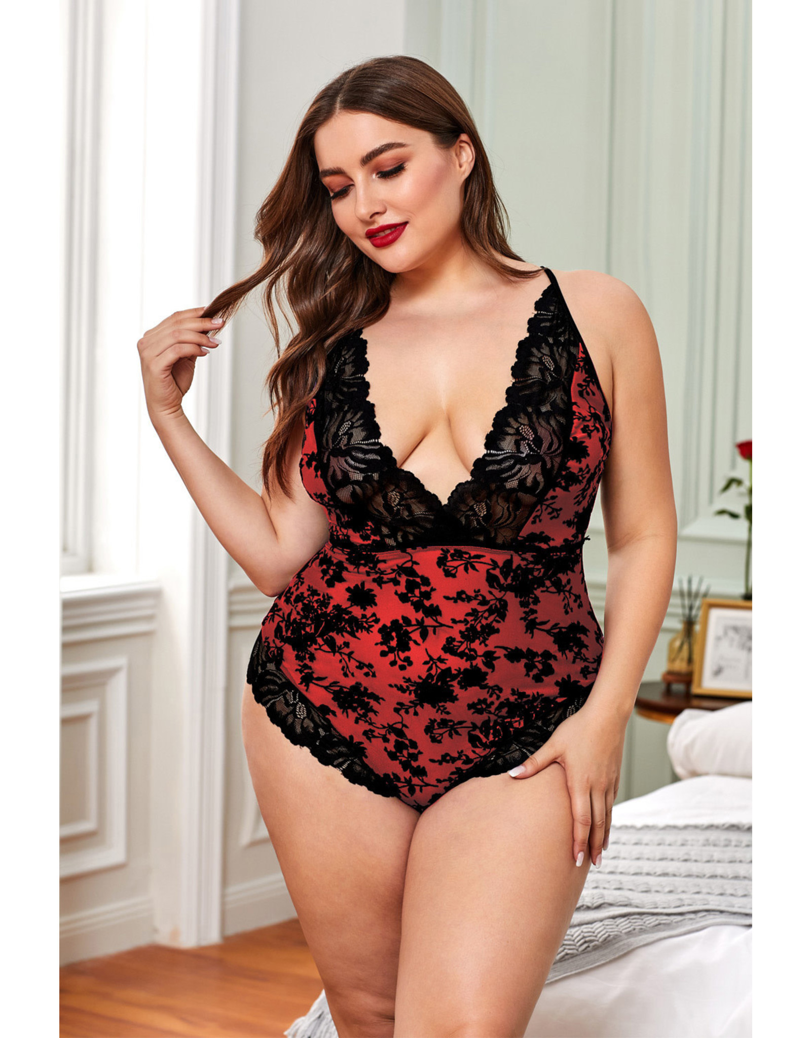 Babylon Promise Red Lace Teddy 1X
