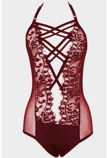 Wine Red Strappy Lace Goth Sm