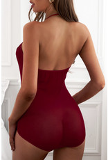 Wine Red Strappy Lace Goth Lg