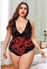 Babylon Promise Red Lace Teddy 2X