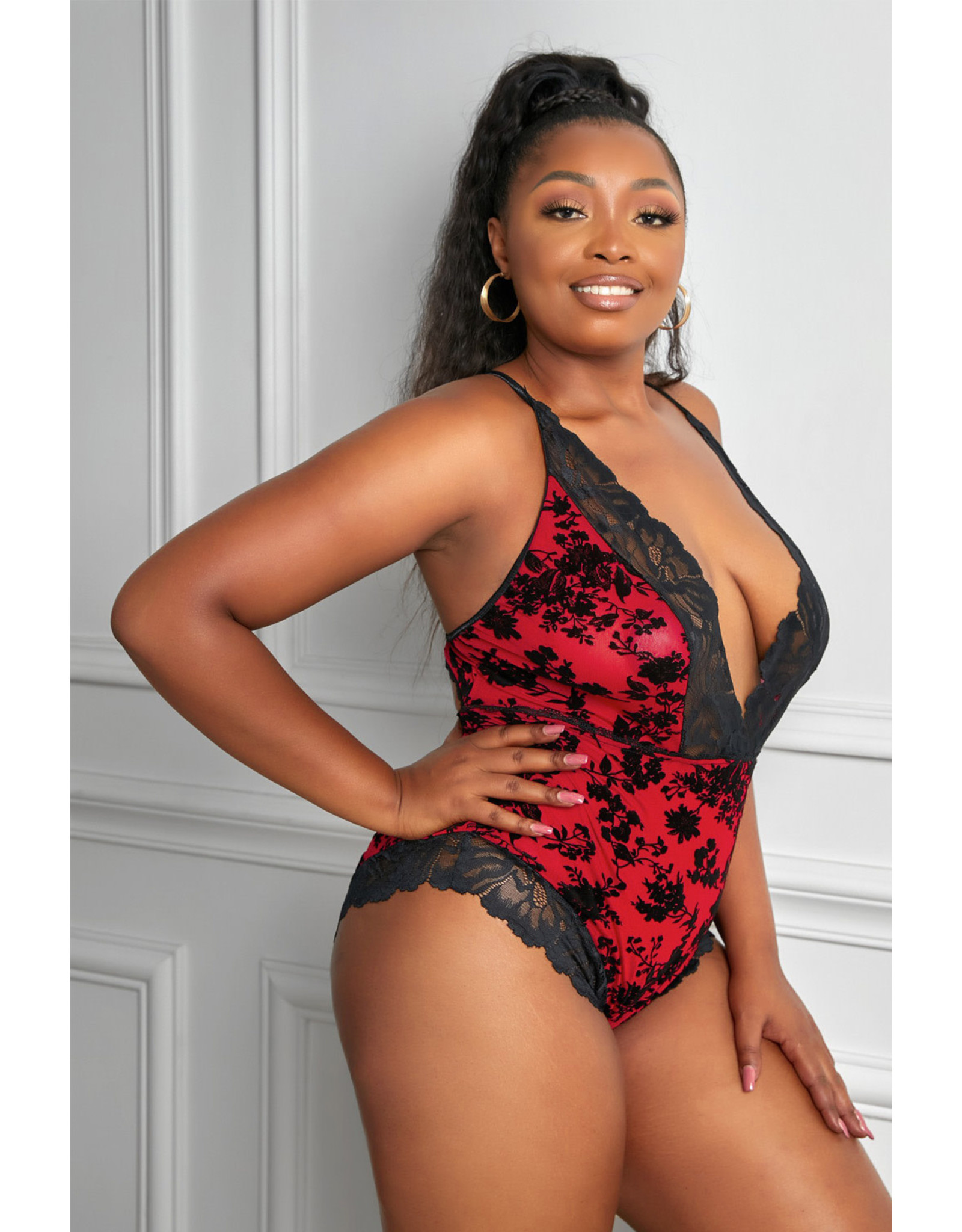Babylon Promise Red Lace Teddy 3X