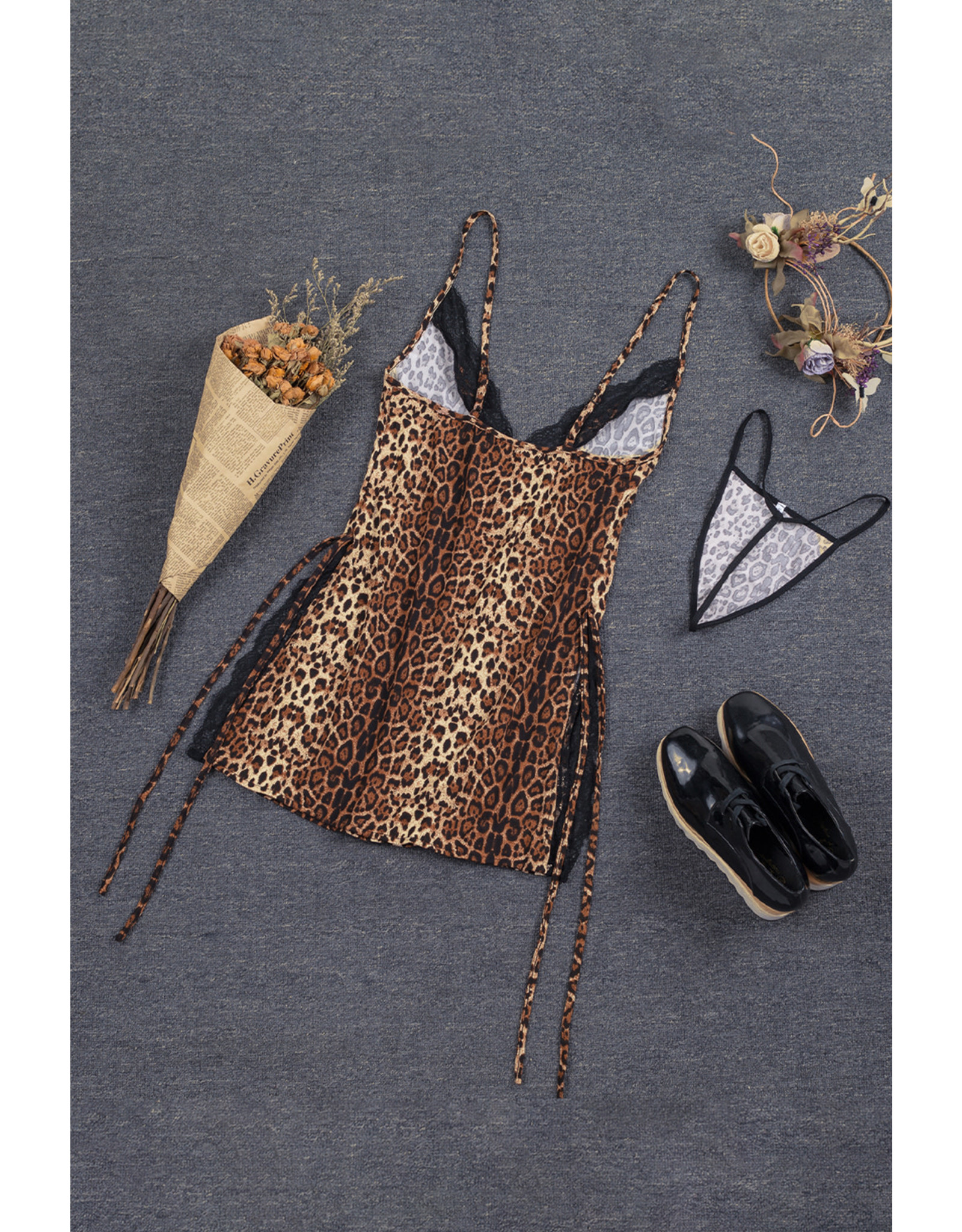 Babylon Leopard Dress Lg