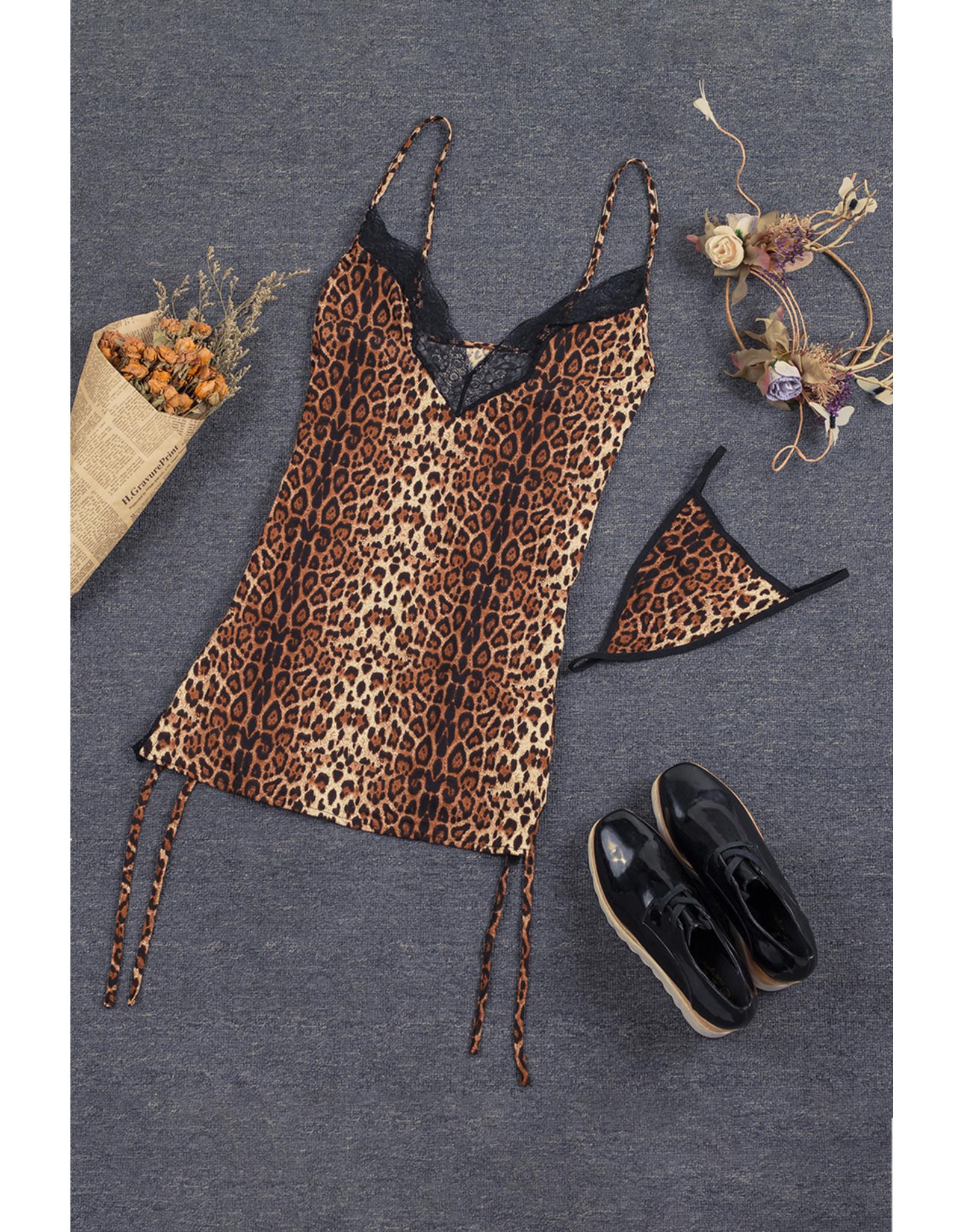 Babylon Leopard Dress Sm