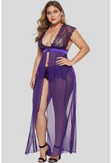 Babylon Purple Locked Away Lover Gown 3X