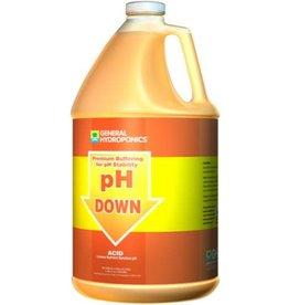 General Hydroponics GH pH Down Liquid Gallon